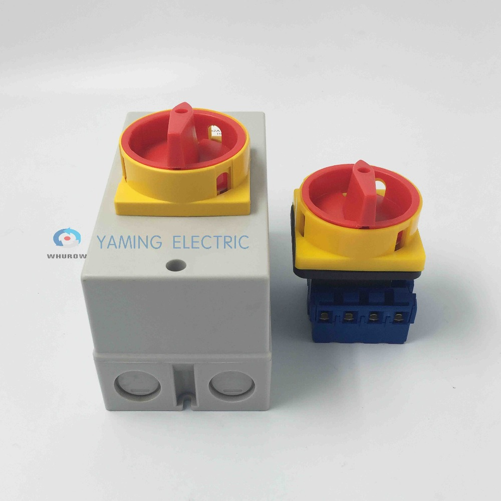 Image 2 - Yaming electric Main disconnect switch waterproof rotary encoder switch 32A 4 Poles on off YMD11 32D/4P isolator switchswitch waterproofswitches electricalswitch switch -