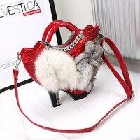 Luxury Shoes Design Handbags Women Genuine Fox Handbag Women Brand Shoulder Bags Shoulder Bags Female Handbags Bolsas Feminina