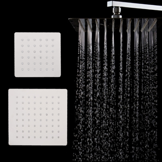4 6inch Bathroom Rain Shower Head High Pressure Shower Head Handheld
