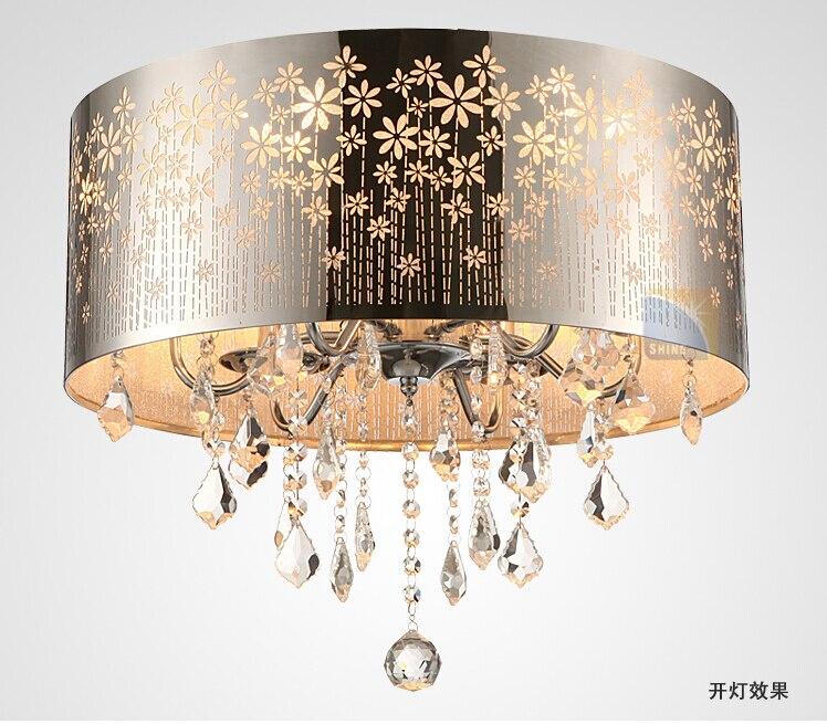 Современные светодиодные K9 блеск хрустальная люстра Барабаны кристалл светильник потолочный светильник Освещение Обеденная luminre E14 Лампы