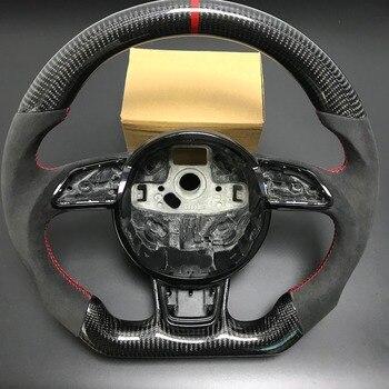 Carbon Fiber Stuurwiel Voor AUDI A3 A4 A5 A6 A7 S3 S4 S5 S6 S7 2013 2014 2015 2016 vervanging