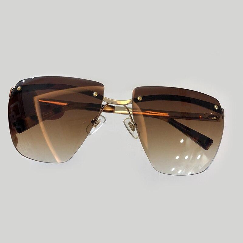 Lunettes de soleil rondes de luxe hommes conception de marque de mode 2018 Vintage surdimensionné haute qualité lunettes de soleil dégradé lunettes de soleil hommes