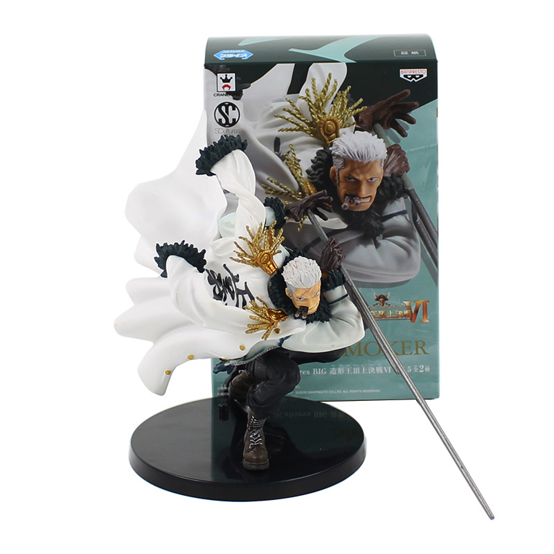 16cm Smoker <font><b>One</b></font> <font><b>Piece</b></font> with sword action figure model toy black base cool <font><b>One</b></font> <font><b>Piece</b></font> collection <font><b>Luffy</b></font> Monkey image