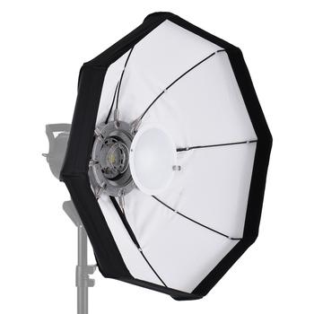8-biegun 60cm biały składany piękno parasol danie Softbox z Bowens Mount dla Studio światło stroboskopowe światła tanie i dobre opinie Andoer Beauty Dish Softbox Octagon 60cm 24in White Butterfly fabric(one kind of cotton fabric)
