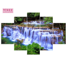 YIKEE H460 diamond painting forest waterfall,full square,embroidery diamond,multi pictures,diamond 5pcs