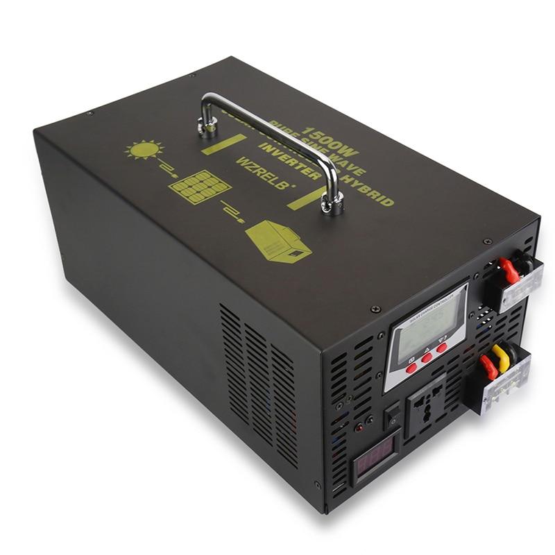 1500W Pure Sine Wave Hybrid Inverter 12V to 220V AC/DC to AC Solar Panel Power Inverter 24V/48V to 120V/230V/240V 30A Controller 5000va hybrid pure sine wave inverter with ac charger mppt solar controller dc 48v to ac 220v 230v 240v 4000w