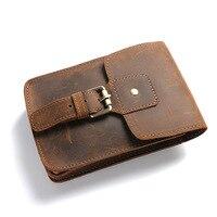 Genuine Leather Men Travel Wallet Vintage High Capacity Cool Purse Phone Wallet Document Organizer Luxury Crazy