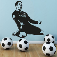 Luis Suarez Wall Decal Football Soccer Player Barcelona Vinilos Decorativos Kids Boys Room Home Art Mural