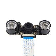 Raspberry Pi Камеры Ночного Видения + 2 шт. ИК-ПОДСВЕТКОЙ + 15 см FPC Модуль для камеры OV5647 5MP Raspberry pi 3 Широкий Угол Рыбий Глаз веб-камера