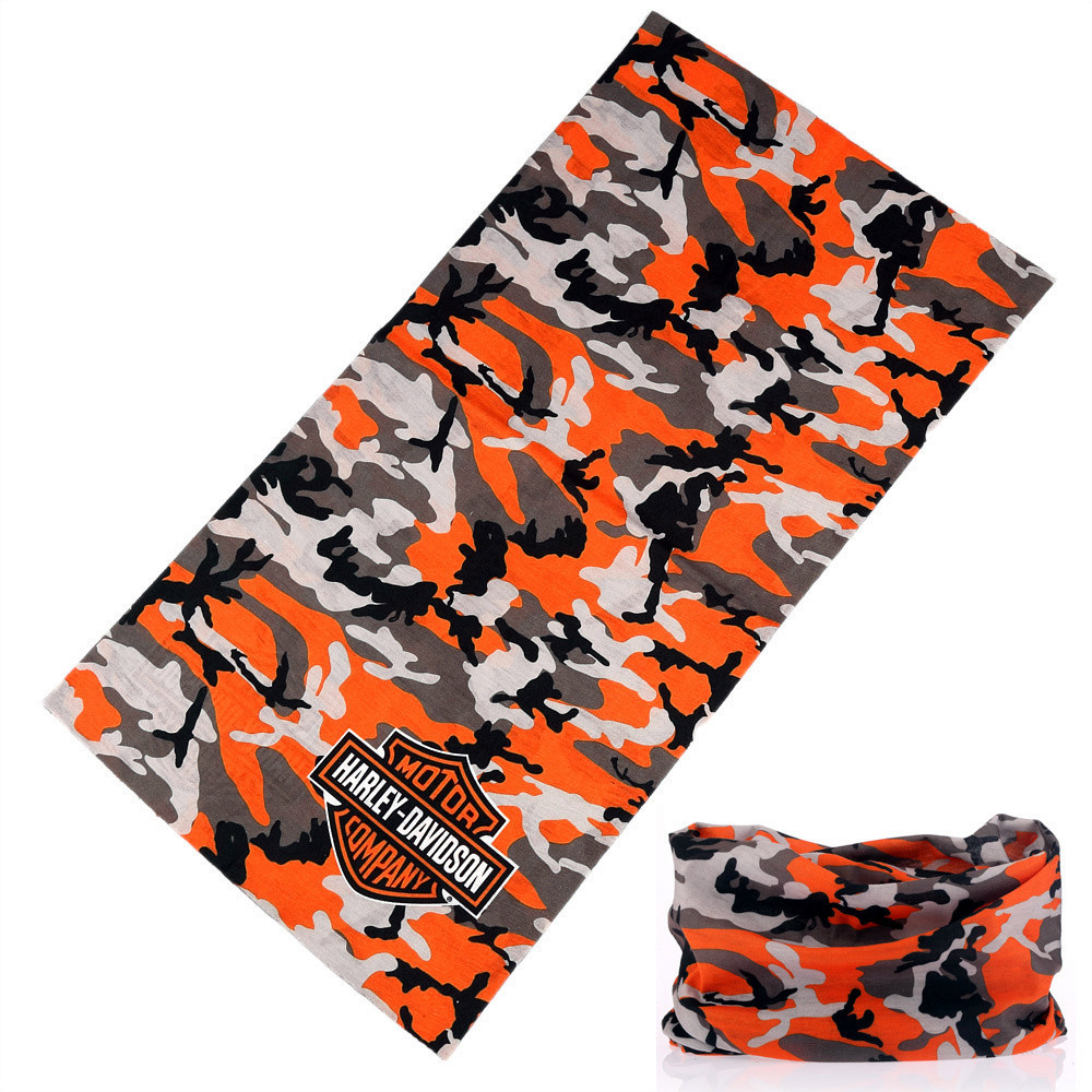 Outdoor Camouflage Mesh Neck Gaiter Headwear Harley buffe Shemagh Military Multi Use Face Shield Seamless Tubular Bandanas Mens
