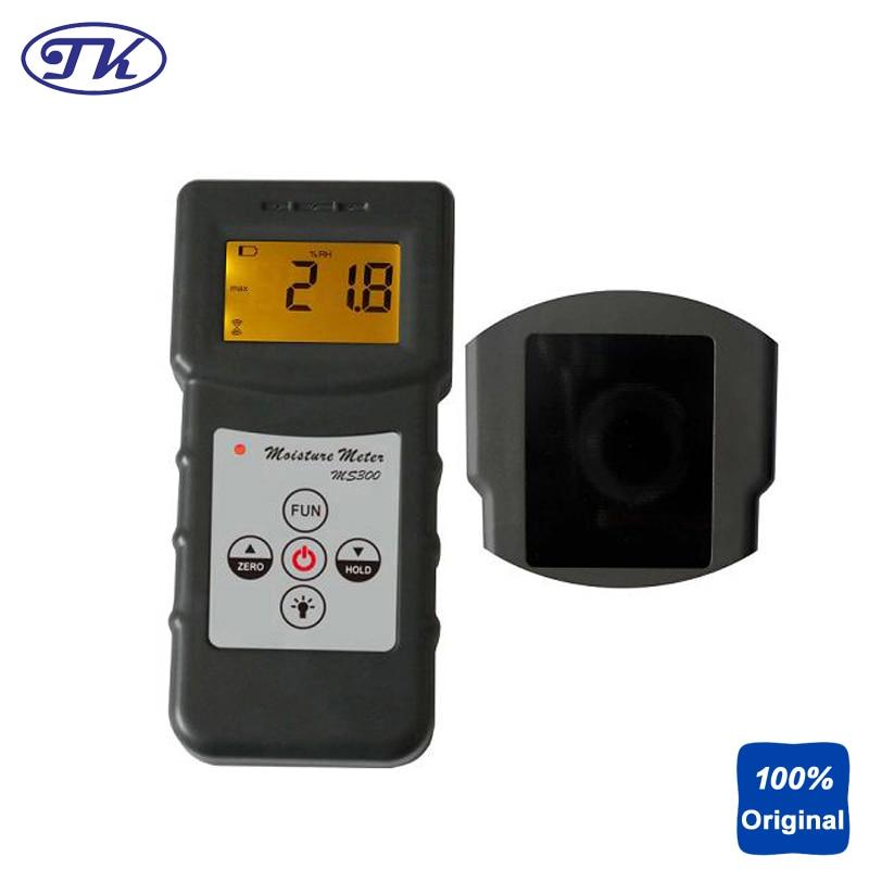 Compact Moisture Tester Concrete Moisture Meter Portable Moisture Gauge MS300 mc 7806 wholesale retail moisture meter pin type moisture tester
