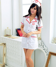 Enfermeira clássico dress jogo de role-playing terno performance de palco uniforme traje tentação 88-mx8