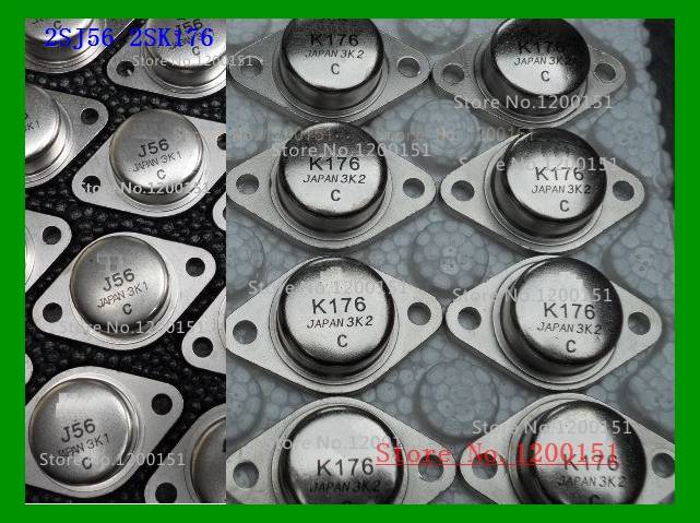2pcs/lot=1 Pairs Of 2SK176 2SJ56 K176 J56 LOW FREQUENCY POWER AMPLIFIER