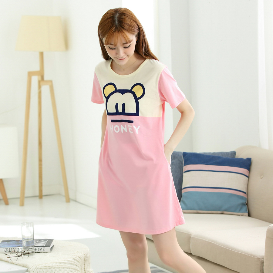 Nightgowns & Sleepshirts 2018 Sleepwear cotton nightgown Cartoon ...
