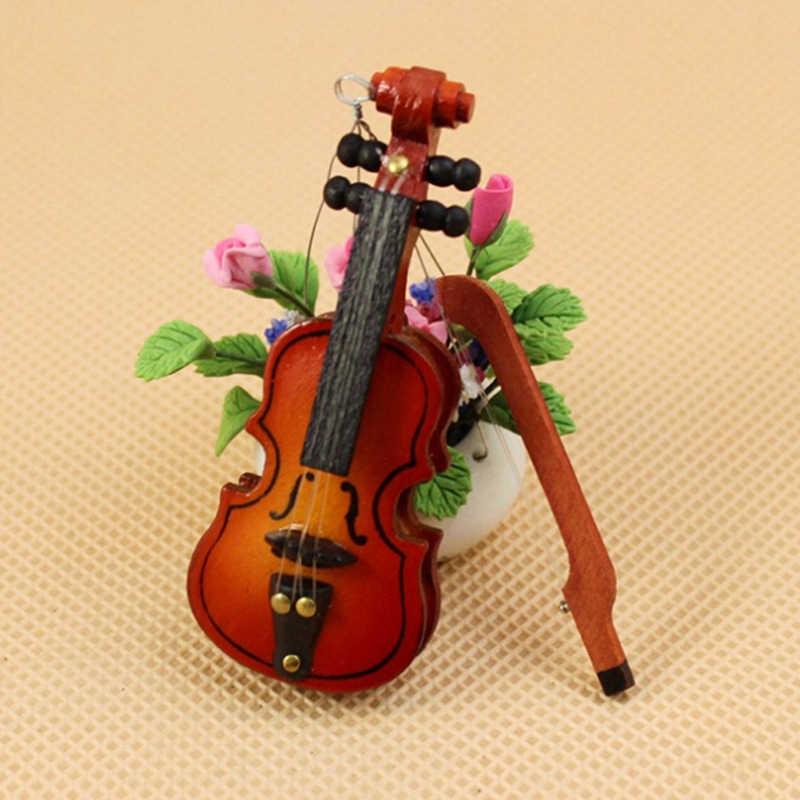 Guitarra violino trompete saxofone tambor microfone fonógrafo boneca instrumento musical para bonecas casa música barra boneca acessórios