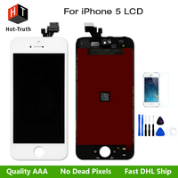 LCD For IPhone 5 Touch Screen Display Digitizer Assembly Grade AAA No Dead Pixel With Free
