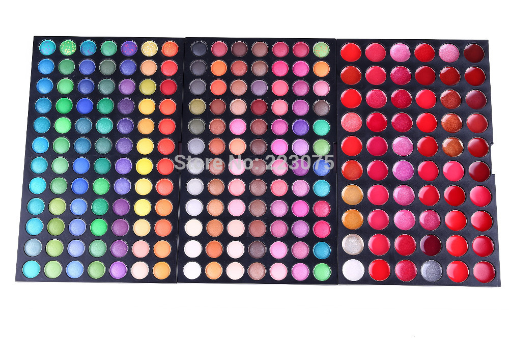 Pro 228 colors Makeup Pallette 60 lip gloss 168 colors eyeshadow Kit Beauty Cosmetic christmas gift girl friend