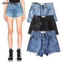 2018 New Hot Summer Fashion Women S Jeans High Waist Stretch Denim Shorts Casual Solid Slim