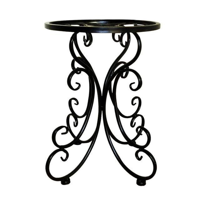 Indoor Balcony Metal Iron Flower Stand Tray Home Decoration Flower