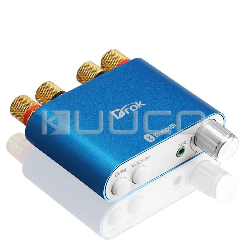 50 Вт x 2 <font><b>Bluetooth</b></font> 4.0 Усилители домашние 100 Вт Усилители домашние Мини HIFI DIY стерео аудио приемник + США Plug Питание + сигнального кабеля