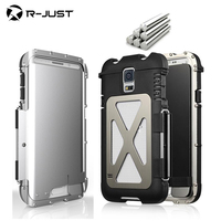 R Just Armor King Phone Cases Iron Man Steel Metal Shockproof Flip Case For Samsung Galaxy