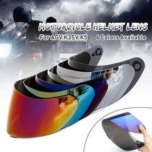 Motosiklet vizörü Anti-scratch rüzgar kalkanı kask Lens vizör tam yüz için Fit AGV K1 K3SV K5 motosiklet aksesuarları