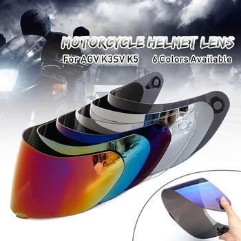 Motorcycle Visor Anti-scratch Wind Shield Helmet Lens Visor Full Face Fit for AGV K1 K3SV K5 Motorcycle Accessories