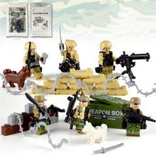 ON SALE Police Military Figures Soldier Army Gun Weapon Modern War Build Block Brick legoed For Children Toy
