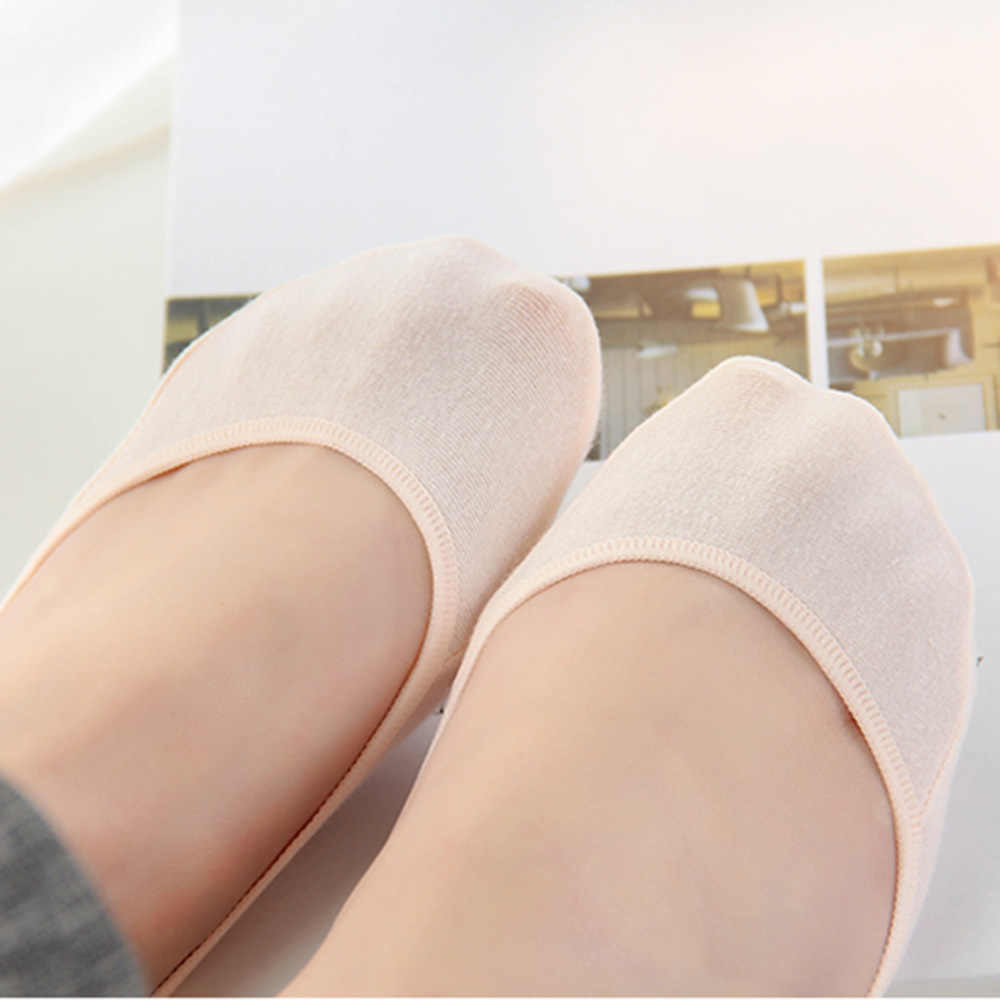 e0030fecca2 ... 5 Pairs Women Short Summer Slipper Socks Ladies Invisible Boat Sock  Girls Footsie Skin Thin Fashion ...