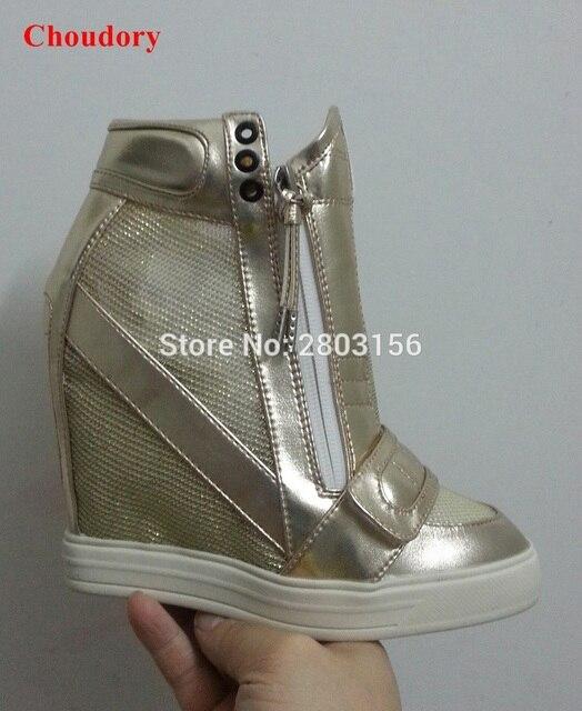 Hot Fashion Height Increasing Shoes Women Platform High Heel Wedges Shoes Women's Casuals Shoes