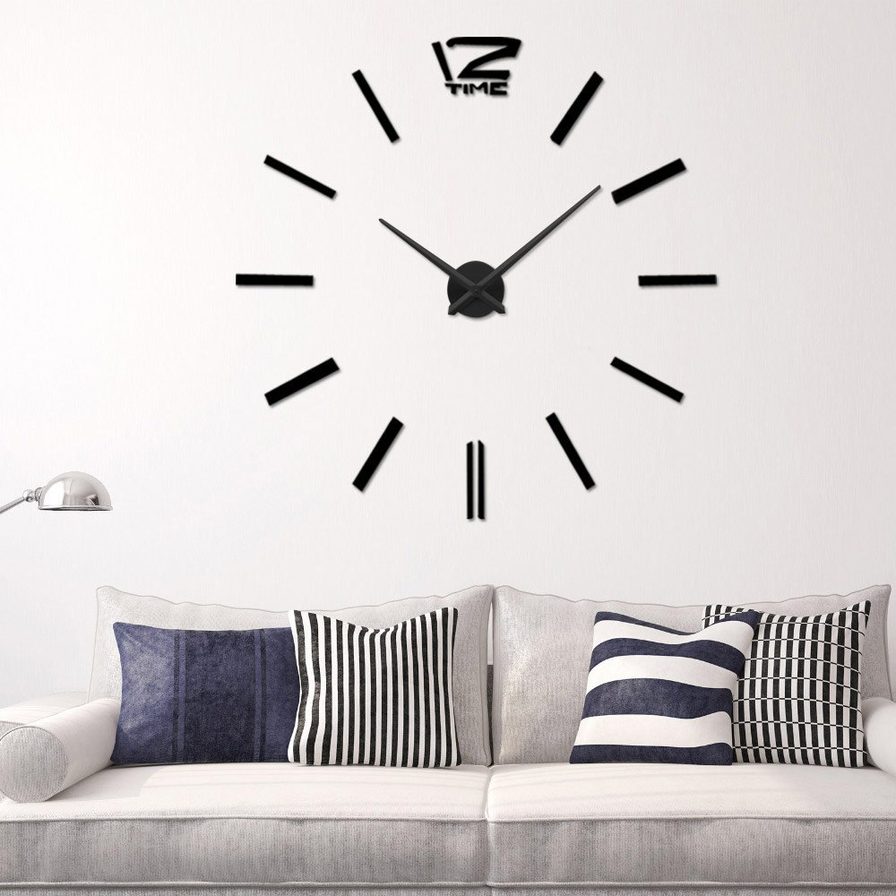 Aliexpress.com : Buy Arrival 3D Home Decor Quartz DIY Wall Clock Large  Clocks Horloge Watch Living Room Metal Acrylic Mirror 20 Inch From Reliable  Mirror ... Part 90