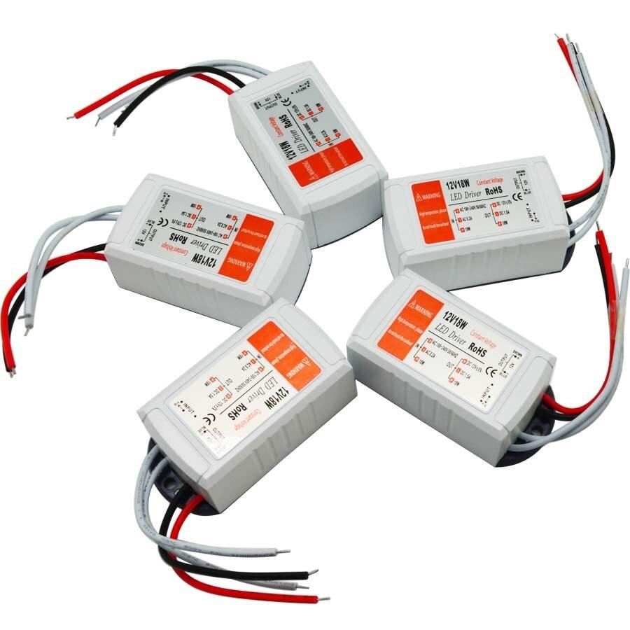 Controlador led de 18w led fuente de alimentación transformador led 12v 5W 18w 28w 48w 72w 100w para tira led mr16 mr11 1 Uds linterna convoy linterna Lanterna conductor nuevo Firmware 7135x3/7135x4/7135x6/7135 8x17mm de accesorios de iluminación