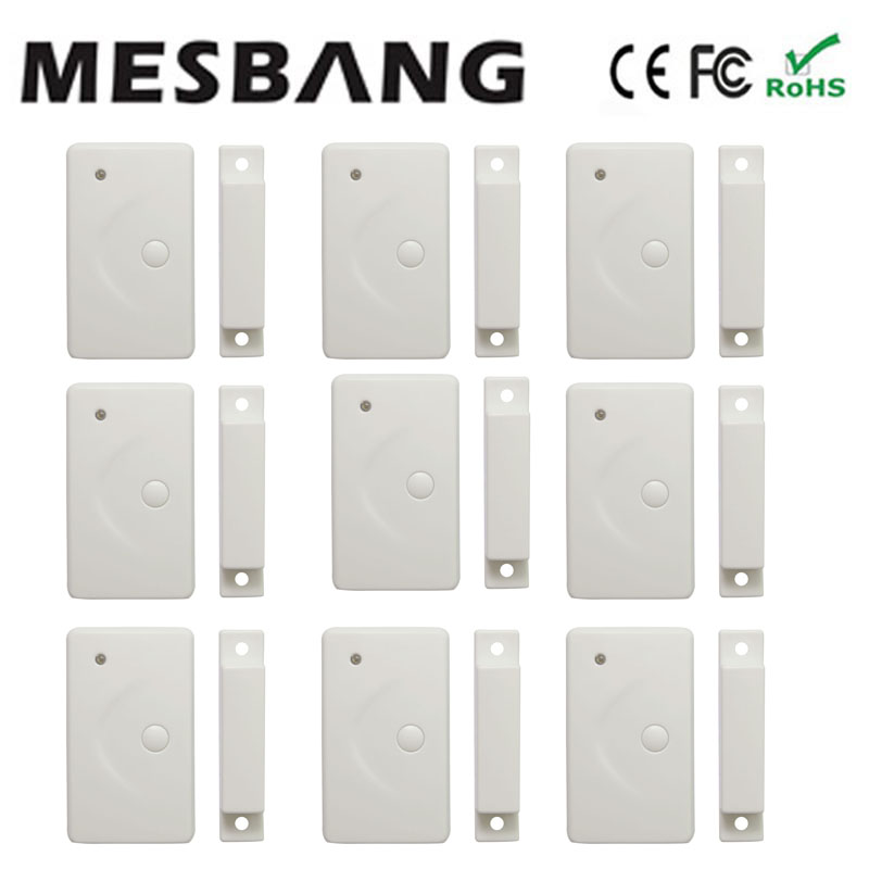 hot wireless door magnetic wireless door sensor door detector for GSM alarm system free shipping xinsilu plastic door magnetic sensor contacts detector alarm security system for wooden door mc 31 free shipping