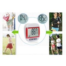 New Multi-Function Electronic Waterproof Pedometer Calories Counter Digital Running Step Counter With Large LCD Display Red