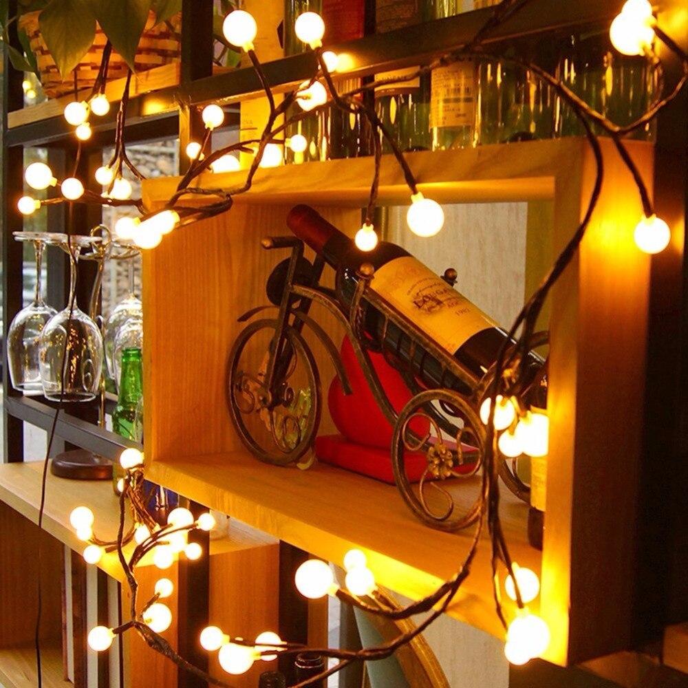 Globe String Lichter 72 Led 8 Modi Wasserdicht Lichterketten Fur