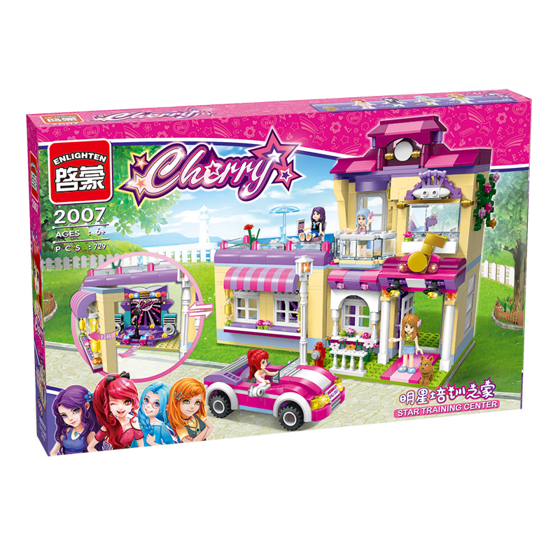 Friends Girls Series Star Training Center Girls Building Block City Sets Assemble Bricks toys Compatible Lepin Figures Toys Gift lepin 02012 city deepwater exploration vessel 60095 building blocks policeman toys children compatible with lego gift kid sets