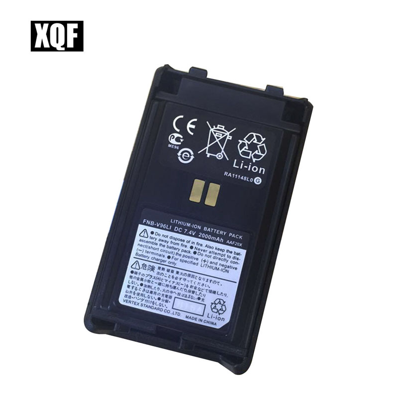 XQF FNB-V96LI DC 7.4V 2000mAh LITHIUM-ION Replacement Battery For Vertex Standard  VX-350 VX-351 VX-354 Radio