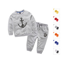 baby Boys Clothing Set Sets Captain children Clothes Sweatshirt Pullover Sweapants two pieces Cotton Size for 2,3,4,5,6,7 years