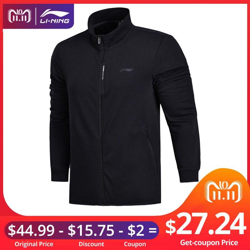Li-Ning Men FZ Knit Top Training Sweater Slim Fit Comfort Fitness Jackets LiNing Double Fleece Sports Sweaters AWDN041 MWJ2521 slim fit cable knit turtleneck sweater