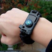 Многофункциональный браслет для выживания paracord камуфляжный
