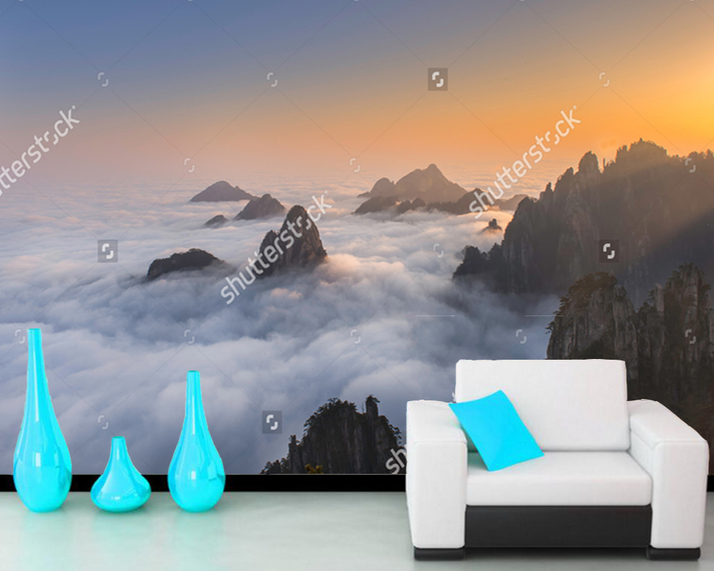 Chinese landscape wallpaper, Huangshan,Yellow Mountains,natural photo mural for living room bedroom sofa background wall paper картины в квартиру картина huangshan mountains 79х79 см