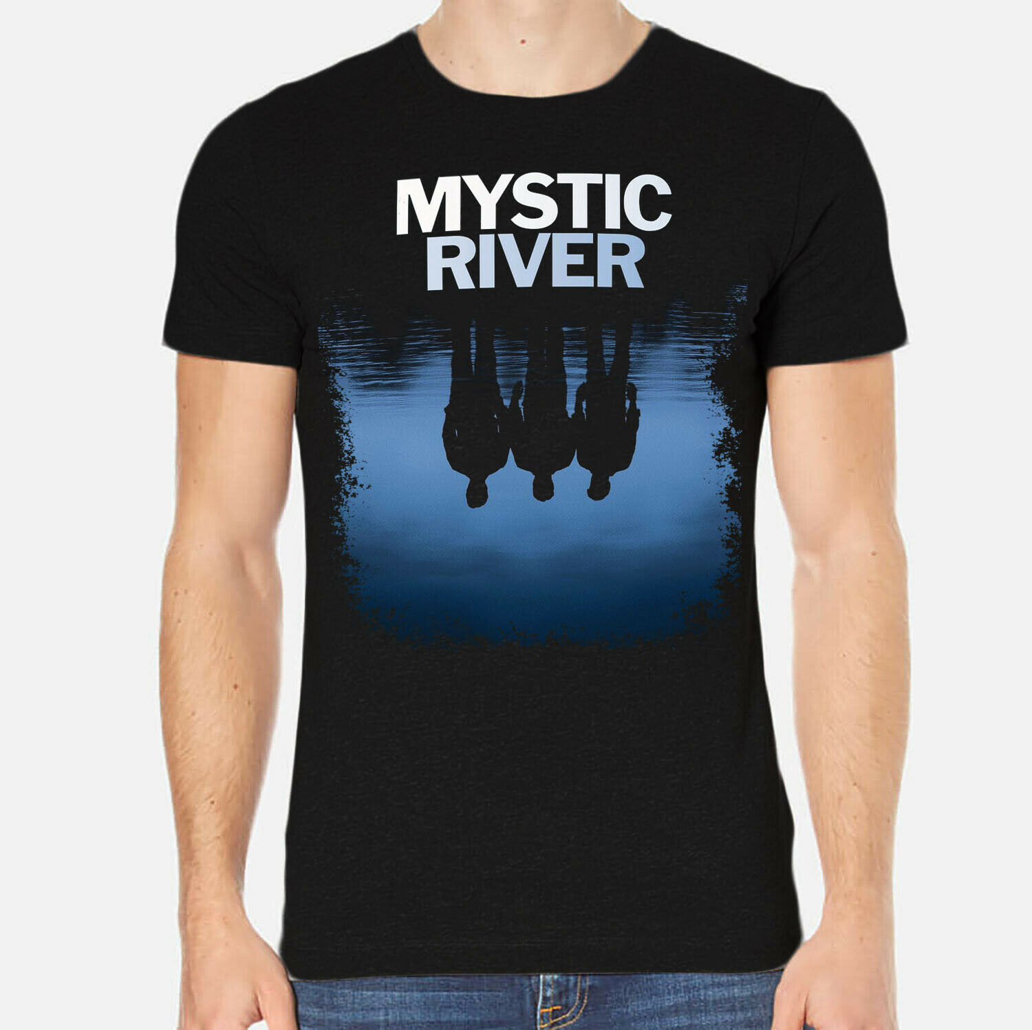 Mystic River Clint Eastwood <font><b>Sean</b></font> Penn Tim Robbins Men <font><b>T</b></font>-<font><b>Shirt</b></font> O-Neck Fashion Casual High Quality Print <font><b>T</b></font> <font><b>Shirt</b></font> Top Tee image