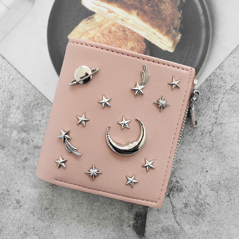 Women's 20% Simple Cross Pure Color Soft Star Star Wallet 2018 New Style Women's Wallet 6