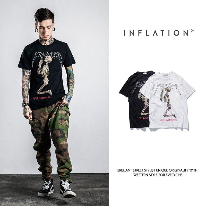b478949e0c3 Yeezus Tour Short Sleeve T shirt Skull Ghost Merch Indian Headdress T Shirt  Tee Kanye West Clothing-in T-Shirts from Men s Clothing on Aliexpress.com  ...