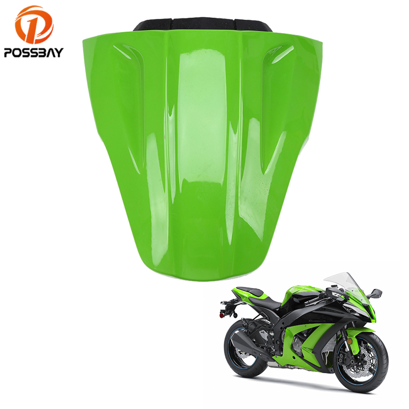 POSSBAY Motorcycle Rear Pillion Seat Cowl Fairing Cover Moto Accessories Fit for Kawasaki Ninja ZX10R 2011 2012 2013 2014 2015