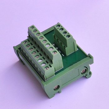 تيار مستمر 24 فولت توزيع كابل الطاقة الخائن محطة كتلة لوحة القطع DIN السكك الحديدية