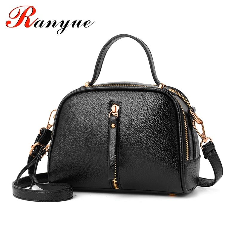 купить RANYUE 2017 New Fashion PU Leather Bags Handbags Women Famous Brands Shoulder Bags For Women Flap Tote Bag Girls Bolsas Mujeres недорого