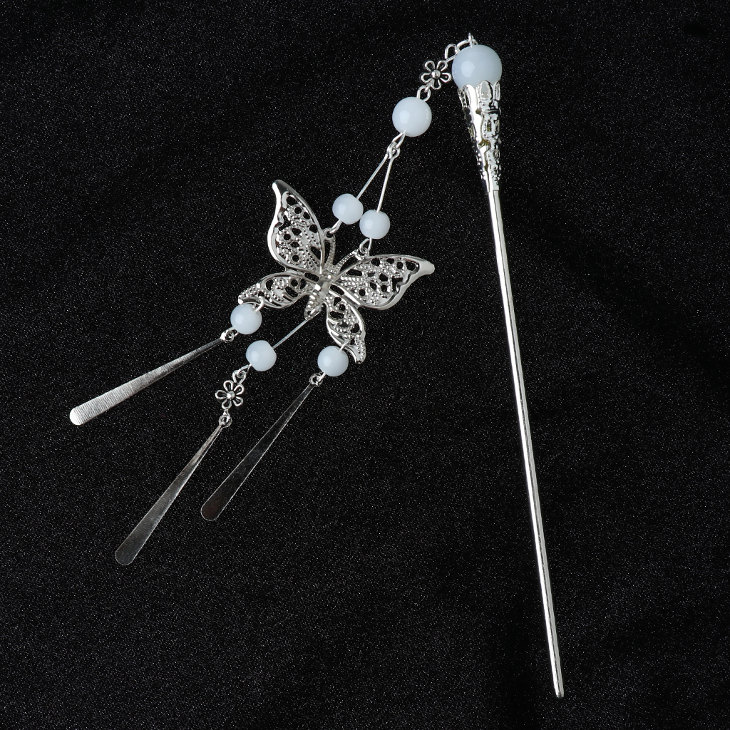 Vintage Women Hair Sticks Chinese Pin Butterfly Design Tassel Hair Stick Headwear Hair Accessory for Ladies in Women 39 s Hair Accessories from Apparel Accessories