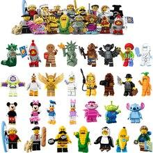 Single Sale Unicorn 17 Girls Gingerbread Man Medusa Girl Statue of Liberty Unicorn Rocket Boy friends Building Blocks Toys 71018