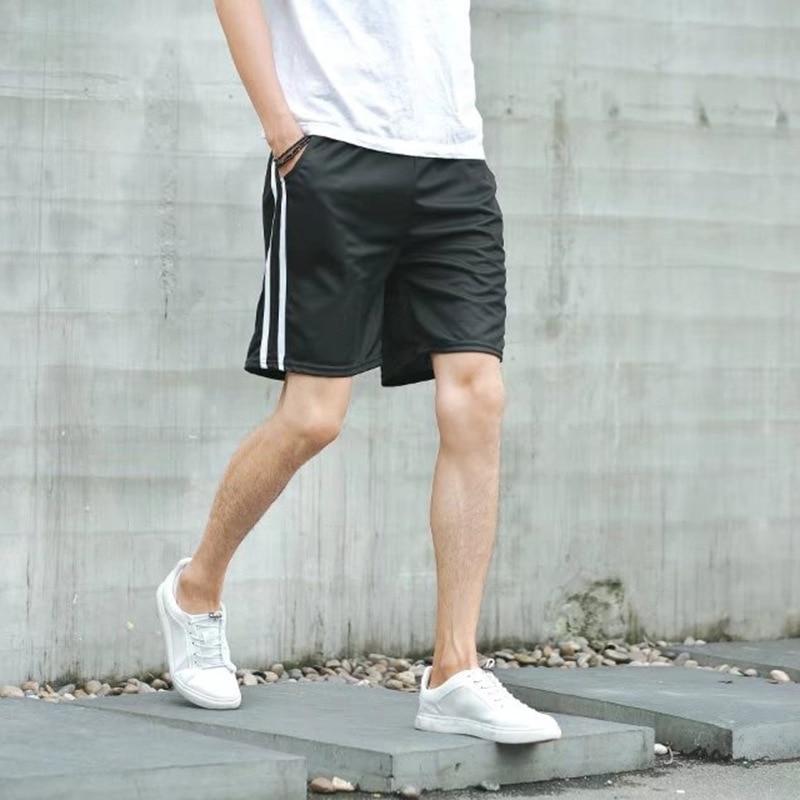 S-2XL Summer Shorts Men Fashion Stripe Side Casual Loose Shorts Causal Bermuda Beach Shorts Hombre Male Short Boardshorts